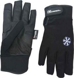 Čierne zimné vodeodolné rukavice - Winter Premium