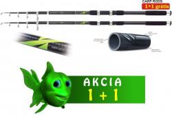 AKCIA 1+1 kaprové tele prúty 3,60m/2,75lbs X Tele Carp