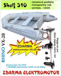 Akcia-Čln Shelf 310 šedý + ZDARMA motor Rhino VX 28