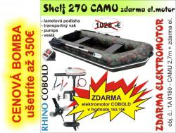 Nafukovací čln Shelf 270 CAMU + ZDARMA Rhino Cobold