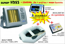 AKCIA-sonar HDS 5 s GPS + čln DELTA + taška + mapa