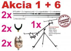 AKCIA-kaprárske prúty+ tripod+ signalizátory+ rohatinka