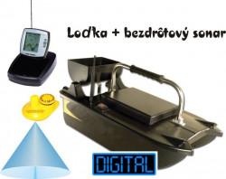 Vyvážacia loďka+čiernobiely sonar s nahadzovacou sondou