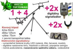 Najlacnejší kovový tripod + 2X signali. + 2X rohatinka