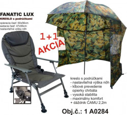 AKCIA-Rybárske kreslo LUX + ZDARMA CAMU dáždnik 2,2m