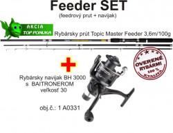 Feeder prút 3,6m/100g + feeder baitrunerový  navijak