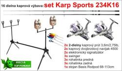 Kaprársky SET: Karp SPORTS 234K16 - 2diel /3,6m /2,75lb