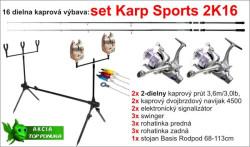 Kaprársky SET: Karp SPORTS 2K16 - 2diel /3,6m /3lb