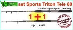 AKCIA SPORTS CARP tele set Triton T2-2x prút 3,30m/80g