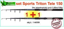 AKCIA SPORTS CARP tele set Triton T2-2x prút 3,60m/150g