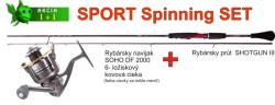SPORTS set prívlačový prút 2,40m/25g+navijak