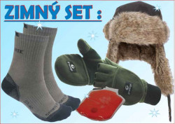 SPORTS, winter set: čiapka, rukavice, ponožky, hrejítko