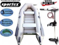 AKCIA - čln SPORTEX + motor Rhino