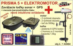 Akcia - Prisma 5 s GPS a sonarom + elektromotor Cobold