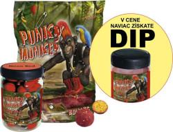 AKCIA SET Boilies Punky Monkey + PopUp 75g + Dip 150ml