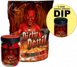 AKCIA SET Boilies Dirty Devil + PopUp 75g + Dip 150ml