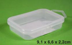 priehľadná krabička na príslušenstvo 9,1x6,6x2,2cm