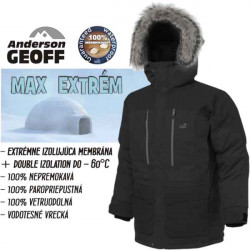 Geoff Anderson bunda, USQUE Down Parka, black