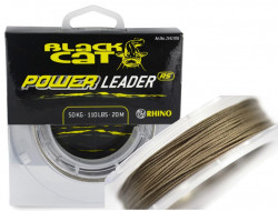 Sumcová šnúra Black Cat Power Leader RS, 20m 50kg