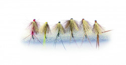 Set mušiek Mustad CL-FLYKIT-15 CDC spinner 6ks