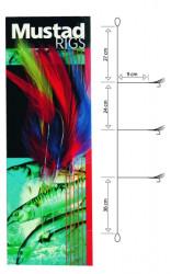 Nadväzec Mustad T12 cod Feather Trace, háčik veľ. 6/0