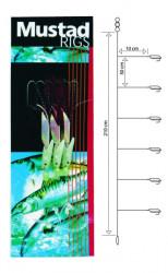 Nadväzec Mustad T81 Fishskin Bi-Color, háčik veľ. 4