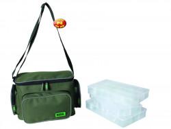 Taška na nástrahy Zebco, Lure Bag, 36x26x26cm+3x box