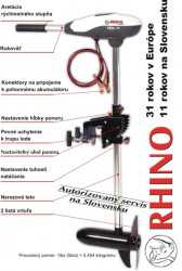Elektrický motor RHINO VX 28, váha 6,25kg