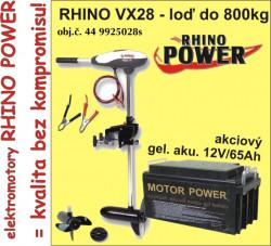 Rhino set-el. motor VX-28 + akumulator 65Ah/12V