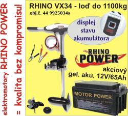 Rhino set-el. motor VX-34 + akumulator 65Ah/12V