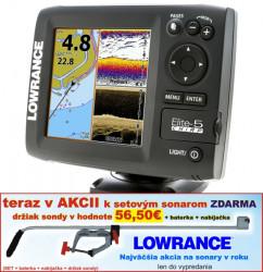 Lowrance ELITE-5 CHIRP s GPS 4lúčový sonar