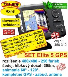 Vianočný set Lowrance ELITE 5 s GPS-dvojlúčový sonar