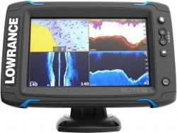 Lowrance Elite-7 Ti sonar na more, so sondou 2D