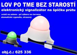 Elektronický svietiaci signalizátor záberu na špičku