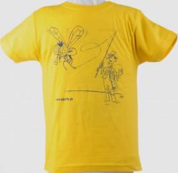 Tričko detské – Rybár muškár, f. žlté