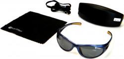 Polarizačné okuliare, modrý rám/sklo-šedé