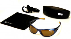 Polarizačné okuliare, modrý rám/sklo-hnedé