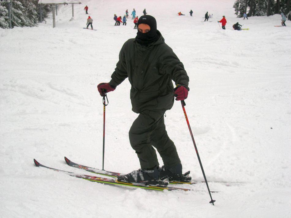 v geoffe na lyžiach