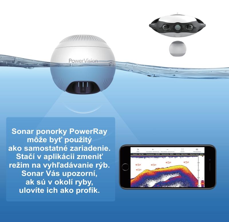 odnímateľný sonar ponorky Power Ray