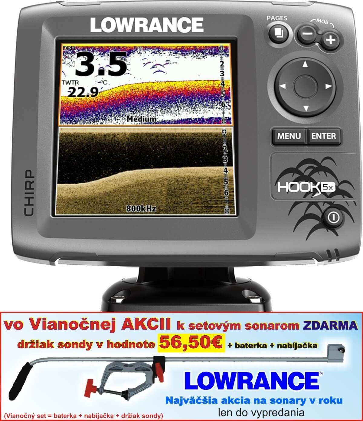 Lowrance Hook-5X sonar Chirp/DSI