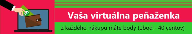 vaša virtuálna peňaženka - z každého nákupu máte body