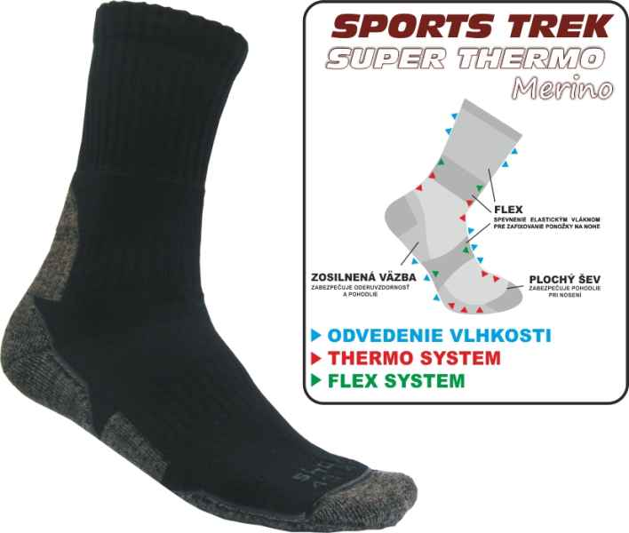 Termo ponožky SPORTS SUPER THERMO Merino