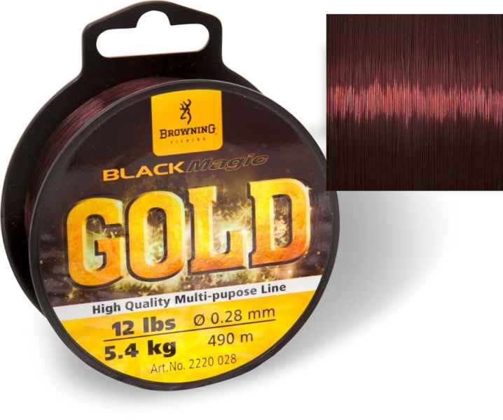 Silon na feeder Black Magic® Gold Mono - tmavo hnedý