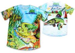 Rybársky dres maľovaný Šťuka SPORTS