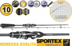 Prívlačový prút SPORTEX Graphenon Spin Ultra Light 1-7g
