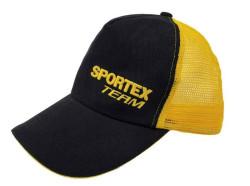 Rybárska šiltovka SPORTEX čierno-žltá