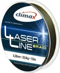 CLIMAX Laser Braid olive - šnúra 135m