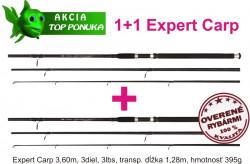 Akcia-1+1 kaprové 3 diel. prúty 3,6m/3,00lb Expert Carp