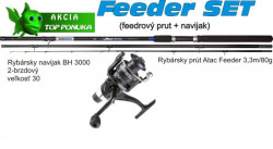 Feeder prút 3,3m/80g + feeder baitrunerový navijak