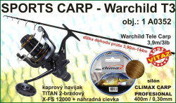 SPORTS CARP set TELESKOP 3,9m/3,0 + baitrunner + silon